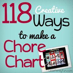 Little Family Fun: 118 Ways to Make a Chore Chart!