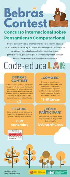 Bebras Contest. Concurso internacional sobre Pensamiento Computacional. Coding, Teaching Activities, Study Tips, Teachers, Thoughts, Programming