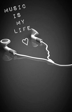 La musica es mi vida-The music is my life Music Wallpaper, Tumblr Wallpaper, Black Wallpaper, Iphone Wallpaper, Trendy Wallpaper, Music Is Life, My Music, Music Drawings, Music Backgrounds