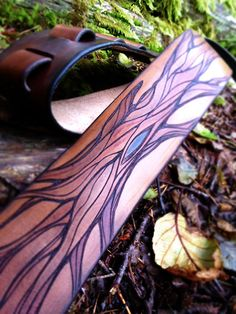 Guitar Strap, Bass Strap, Enchanted Tree, Tree of Life, Leather Guitar Strap by…