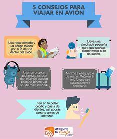 Infografía: Consejos para viajar en avión