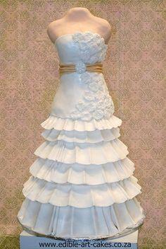 Wedding Dress Cake, cake boss, so cool. Wedding Dress Cake, Gorgeous Wedding Dress, Wedding Cakes, Wedding Dresses, Pretty Cakes, Cute Cakes, Beautiful Cakes, Amazing Cakes, Sweet Cakes