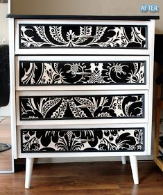 Trendy Black And White Furniture Dresser Redo Girl Rooms Funky Furniture, Repurposed Furniture, Furniture Projects, Furniture Makeover, Painted Furniture, Bedroom Furniture, Home Furniture, Laminate Furniture, Bedroom Chest
