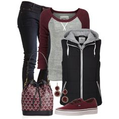 Vest and Thermal, created by jennifernoriega on Polyvore