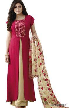 Drashti Dhami Pink Designer Salwar Kameez