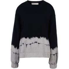 Stella Mccartney Dipped Tie & Dye Jumper ($230) ❤ liked on Polyvore featuring tops, sweaters, jumpers, long sleeves, shirts, long sleeve sweaters, tie dye shirts, long sleeve shirts, tie dyed shirts and crewneck sweater