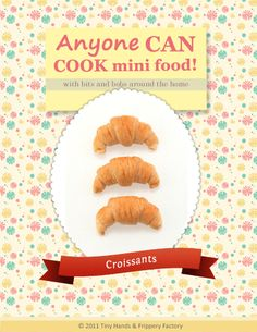 Super cute and free polymer clay croissant tutorial. Full of photos and clear instructions. For beginner to advanced crafters. Polymer Clay Miniatures, Polymer Clay Charms, Polymer Clay Projects, Diy Clay, Clay Crafts, Dollhouse Miniatures, Clay Tutorials, Miniature Tutorials, Free Tutorials