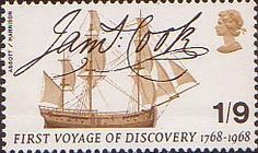 Stamp name: First Voyage of Discovery date: 29 May David Gentleman