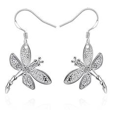 Shop Womens Sterling Silver Plated Jewelry Dragonfly Hook Earrings-Dangle and Search Thousands of Unique Drop & Dangle Earrings Discount Sale Up to off. Cheap Jewelry, Women's Earrings, Jewelry Collection, Jewelry Design, Jewelry Accessories, Silver Plate, Dangles, Plating, Pendant Necklace