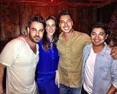 Season 2 designers David Appel, Silvia Arguello, Garrett Gerson and JesseRay Vasquez attend a #FashionStar viewing party.