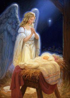 Christmas Scenes, Christmas Nativity, Christmas Pictures, Christmas Angels, Jesus Born Christmas, Angel Pictures, Jesus Pictures, Clara Berry, True Meaning Of Christmas