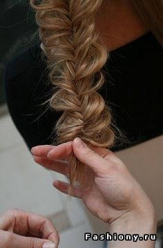 Fishtail braid then pull apart pieces of hair of it for a messier look Rapunzel, Peinados Pin Up, Corte Y Color, Hair Affair, Good Hair Day, Dream Hair, Hair Today, Hair Dos, Gorgeous Hair