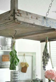 Crate to herb dryer