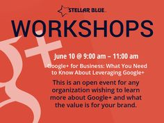Want to know more about Google+ and how it could be used to promote your brand? Join us June 10th from 9-11am for our hands on Google+ workshop!
