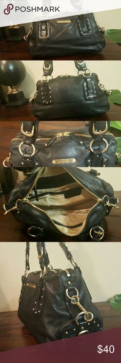 Michael Kors Satchel Black quality leather with gold hardware  In good used condition Michael Kors Bags Satchels