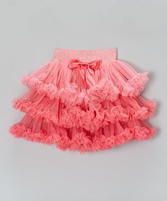 Loving this Peach Tiered Ruffle Skirt - Toddler & Girls on #zulily! #zulilyfinds