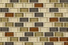 BuildDirect: Glass Mosaic Mosaic Tile   Crystalized Glass Blend Series   Everglade Mini Brick
