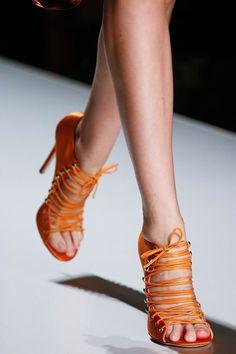 Blumarine sandals in tangerine