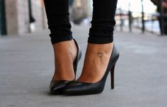 <3 -- love this! Heels and a little tattoo