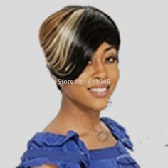 Hairjoy新クラッシーヘアスタイルマルチカラーショートストレート女性のパーティーファッション合成かつらsexywigs