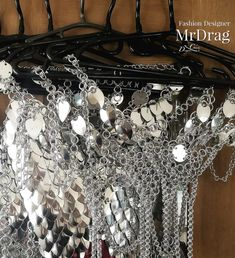 Real Leather, Dragons, Ceiling Lights, Chain, Metal, Dresses, Fashion, Renting, Projects