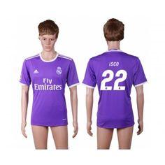 Real Madrid 16-17 Isco 22 Bortatröja Kortärmad  #Fotbollströjor