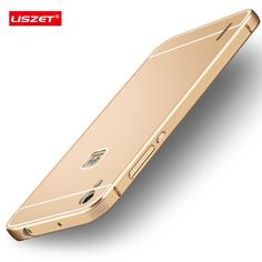 LISZET Brand For  Huawei Ascend P7 Case Brushed PC Back Cover & Aluminum Metal Frame Phone Bag Cases for Huawei P7 phone case.