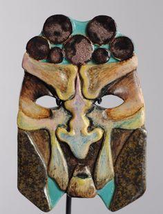 Céramique d'art Masque Janine Louvet - Laruelle Mask Ceramic pottery artistic 15 | eBay