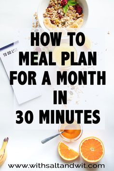 Planning ahead can save you time, money and ensure a nutritious dinner is on the table each night! How to Meal Plan for a Month strategy is easy and quick!