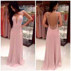 Charming Prom Dress,V-Neck Prom Dress, Evening Dress