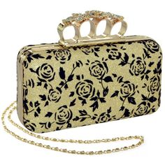 Luv the flower knuckles MG Collection Gold Rose Rhinestone Encrusted Rings Hard Case Evening Clutch MG Collection,http://www.amazon.com/dp/B00DSV2CAO/ref=cm_sw_r_pi_dp_2wYIsb0944VM94CE