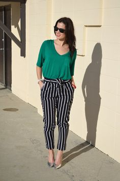 BornLippy | Top, Aritzia; Pants, Forever 21; Heels, Guess; Sunglasses, Ray-Ban; Watch, Timex