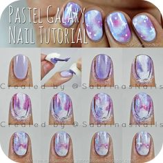 Sabrinas Nails: Pastel Galaxy Nail Tutorial