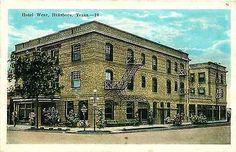Hillsboro Texas TX 1920s Hotel Wear Advertising Antique Vintage Postcard