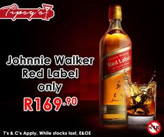 It is 's Birthday and we are celebrating with amazing specials this week. Buy a bottle of Red Label for only Prices valid until 1 August 2015 or while stocks last, T's & C's Apply, E & OE. Not for Sale to Persons Under the Age of Drink Responsibly 1 August, Type 3, Whiskey Bottle, Liquor, Label, How To Apply, Facebook, Drinks, Birthday