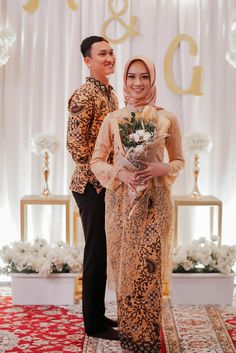Wedding Jobs, Diy Wedding Reception, Wedding Photos, Hijabi Wedding, Kebaya Wedding, Engagement Dresses, Engagement Couple, Batik Couple, Indonesian Wedding
