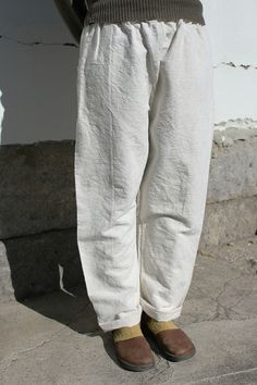 Antique linen white pants/Japanese by SASAKIYOHINTEN on Etsy