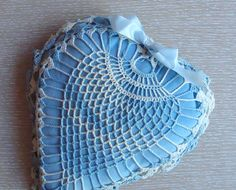 crochet wedding ring pillow pattern Google Search home stuff