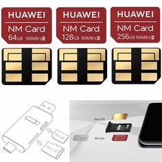 Memory Card 64/128/256GB NM Nano Card For Huawei mate20 Series Replacement IP Pulsar, Off Sale, Card Sizes, Eyeshadow, Memories, Ebay, Drawings, Mattresses, Tents