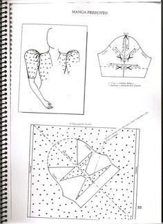 Modelagem Infantil Bebe - Senai Pattern Drafting Tutorials, Sewing Tutorials, Sewing Projects, Sleeves Designs For Dresses, Sleeve Designs, Pattern Cutting, Pattern Making, Dress Sewing Patterns, Clothing Patterns