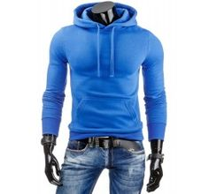 Pánská stylová mikina - Laurent, modrá | TAXIDO fashion