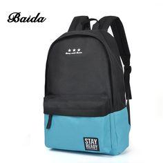 BAIDA Canvas School Backpack Men Teen Schoolbag Backpacks Portfolio Teenagers School Bags For Teenage Boys Girls Mochila Escolar #Laptop #Backpack 15.6-17Inch #Rucksack #SchooL #Bag #Travel #Waterproof  #schoolbag   #gifts #shopping   #fashion    #womens #accessories #accessory   #style   #purses   #business #card #cardholder #mens