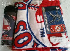 Boston Red Sox 30 x 60 Beach towel & hot/cold travel tumbler $25