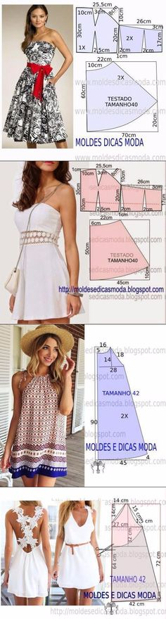 en punto tunecino tallermanualperu Crochet - Como hacer girasoles en a Dress Sewing Patterns, Sewing Patterns Free, Clothing Patterns, Fabric Sewing, Skirt Patterns, Blouse Patterns, Fashion Sewing, Diy Fashion, Fashion Outfits