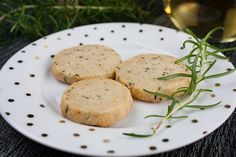 Savory Parmesan Rosemary Shortbread - Fresh rosemary, parmesan cheese, and loads of fresh cracked black pepper. Tender, buttery, and addictive