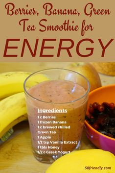 Green Tea Smoothie, Juice Smoothie, Smoothie Drinks, Smoothie Recipes, Drink Recipes, Fruit Drinks, Healthy Drinks, Stay Healthy, Alcoholic Drinks