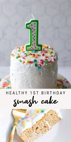 Healthy Birthday Cakes, Baby Birthday Cakes, Dairy Free Birthday Cake, Birthday Recipes, Baby Cakes, Baby First Birthday, Birthday Ideas, Smash Cake Recipes, Healthy Cake Recipes