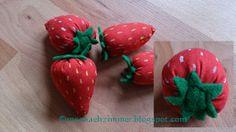 Rosa Nähzimmer ♥ Lyserød systue: Anleitung: Erdbeere/ Opskrift: Jordbær