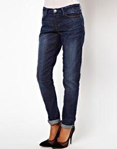 Bild 1 von ASOS – Brady – Boyfriend-Jeans in dunkler Vintage-Waschung