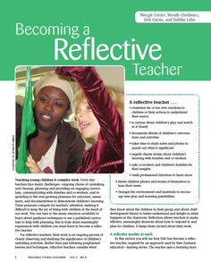 This journal provides some excellent suggestions for ways we can reflect upon our practice as educators. The author credits Dewey for the foundations of reflective practice.